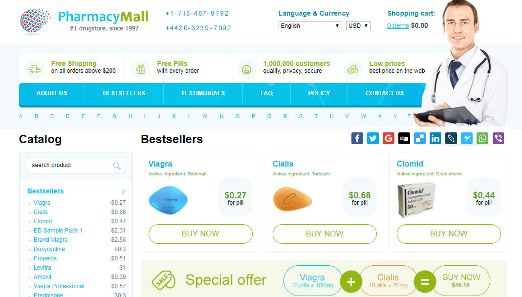 Example of Pharmacy Mall Site