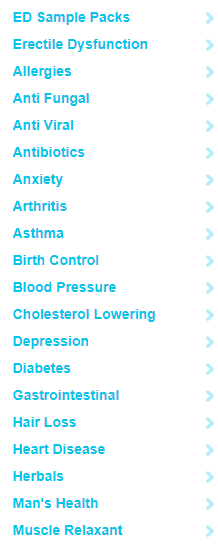 Some of the Product Categories Offered by Online RX